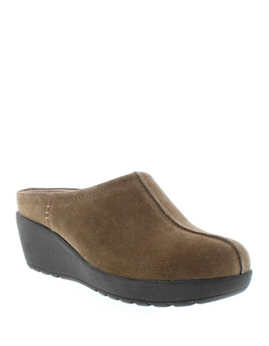 Easy Spirit Jaiva Slip-On Suede Sandals-LIGHT BROWN-9.5