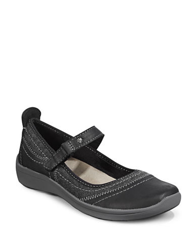 Easy Spirit Sporty Mary Janes-BLACK-8W