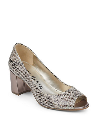 Anne Klein Meredith Slip-On Dress Pumps-SNAKE-9