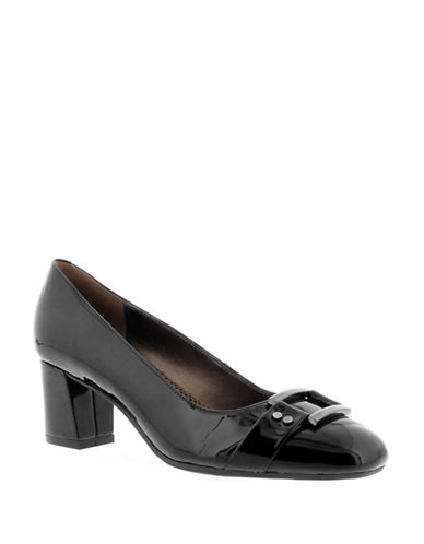 Easy Spirit Patent Leather Pump-BLACK-7.5