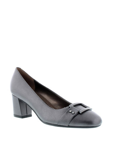 Easy Spirit Patent Leather Pump-SILVER-7