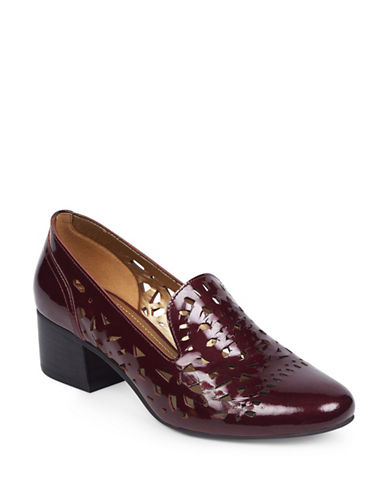 Anne Klein Judeena Block Heel Pumps-WINE-6.5