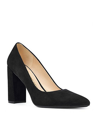 Nine West Astoria Suede Pumps-BLACK SUEDE-6.5