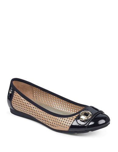 Anne Klein Azi Buckle Flats-TAN-9