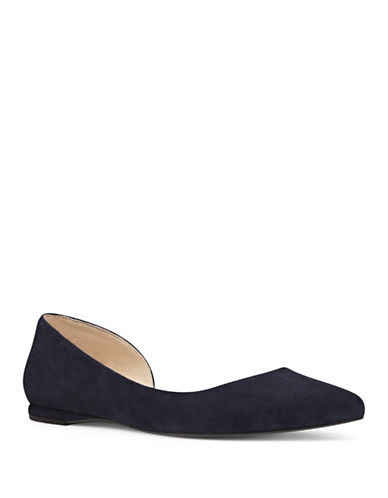 Nine West 9X9 Suede dOrsay Flats-BLUE-11