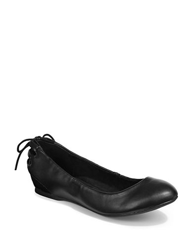 Bandolino Arabella Flat Wedge Shoes-BLACK-10