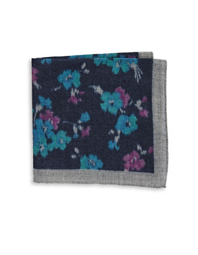 Ted Baker Endurance Wool Floral Handkerchief-NAVY-One Size