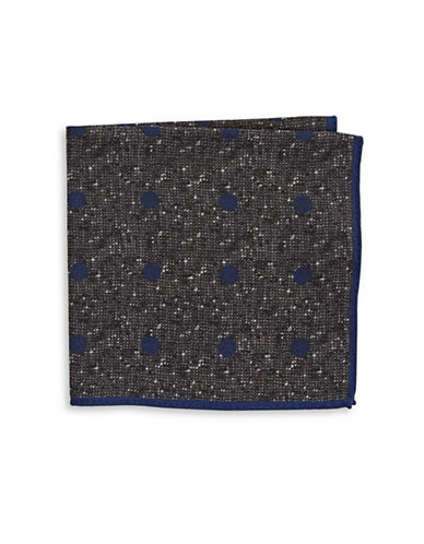 Ted Baker Endurance Polka Dot Wool Handkerchief-CHARCOAL-One Size