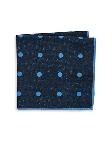 Ted Baker Endurance Polka Dot Wool Handkerchief-NAVY-One Size