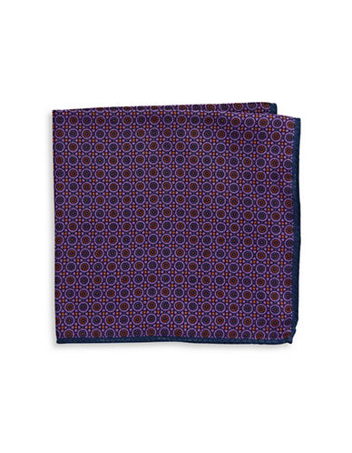 Ted Baker Endurance Floral Wool Handkerchief-PURPLE-One Size