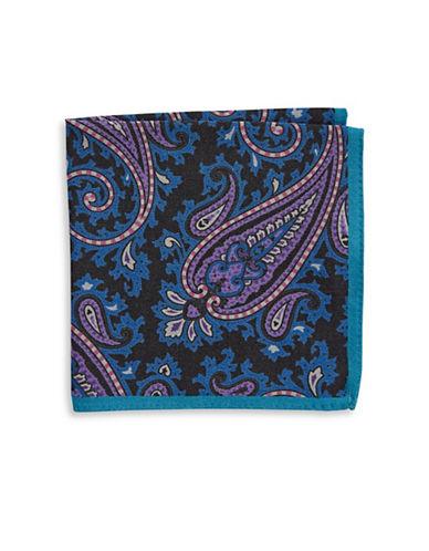 Ted Baker Endurance Paisley Wool Handkerchief-BLACK-One Size
