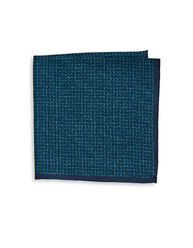 Ted Baker Endurance Wool Square-Print Handkerchief-TEAL-One Size
