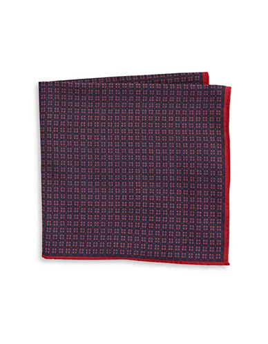Ted Baker Endurance Square Berry Wool Handkerchief-PINK-One Size