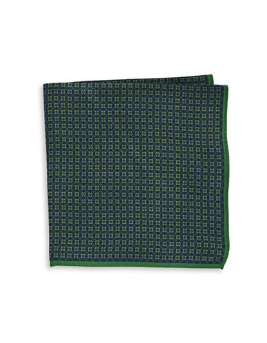 Ted Baker Endurance Square Berry Wool Handkerchief-GREEN-One Size
