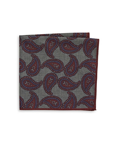Ted Baker Endurance Paisley Wool Handkerchief-RED-One Size