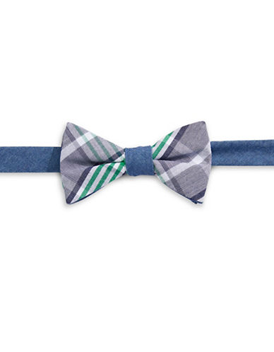 Bow Tie Tuesdays Plaid Cotton Bow Tie-DENIM-One Size
