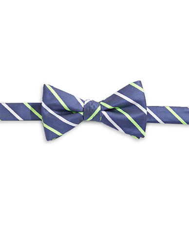 Bow Tie Tuesdays Neon Striped Bow Tie-GREEN-One Size