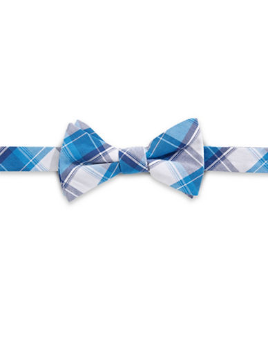 Bow Tie Tuesdays Plaid Cotton Bow Tie-BLUE-One Size