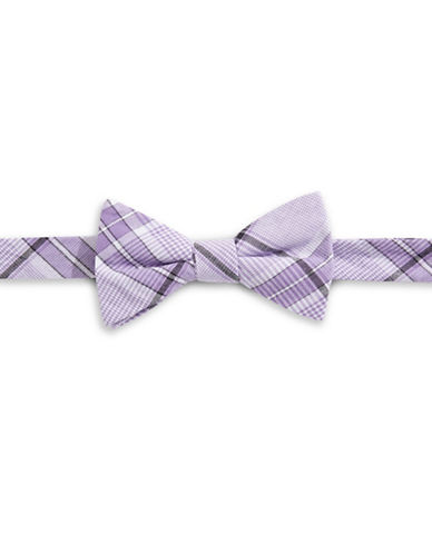 Bow Tie Tuesdays Plaid Cotton Bow Tie-PURPLE-One Size