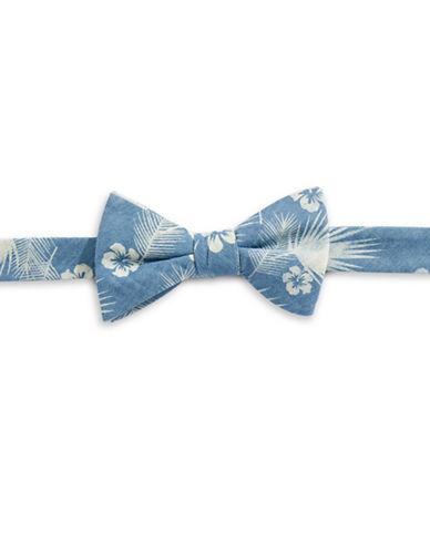 Bow Tie Tuesdays Denim Tropical Print Bow Tie-DENIM-One Size