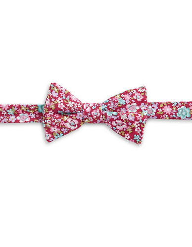 Bow Tie Tuesdays Floral Bow Tie-RED-One Size