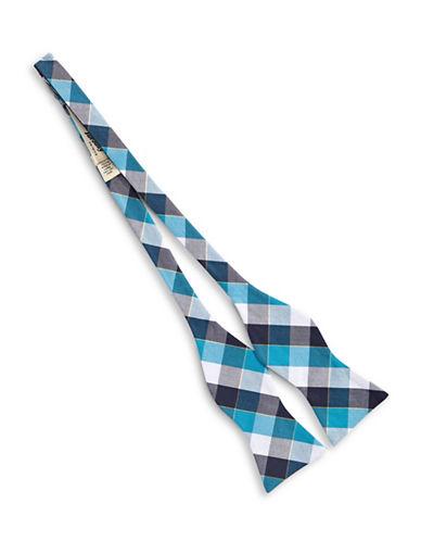 Bow Tie Tuesdays Cotton Check Bow Tie-AQUA-One Size