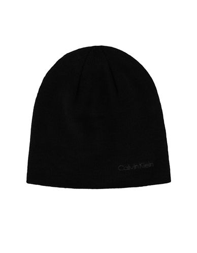 Calvin Klein Basic Reversible Beanie-BLACK-One Size