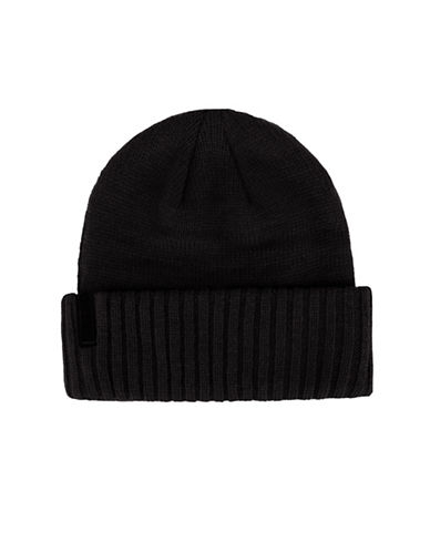 Calvin Klein Jersey Knitted Tuque-CHARCOAL-One Size