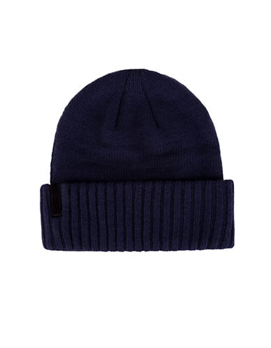 Calvin Klein Jersey Knitted Tuque-NAVY-One Size