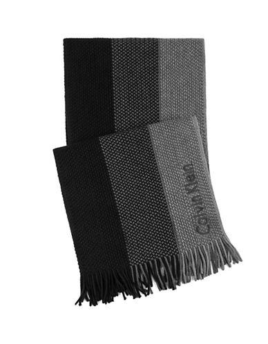 Calvin Klein Ombre Raschel Scarf-BLACK-One Size