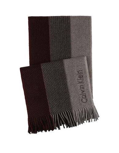 Calvin Klein Ombre Raschel Scarf-BURGUNDY-One Size