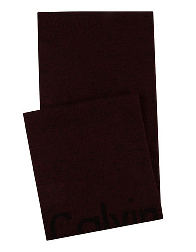 Calvin Klein Cut-off Logo Scarf-RED-One Size