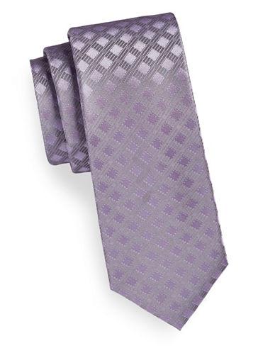 Calvin Klein Tonal Neat Silk Tie-LILAC-One Size