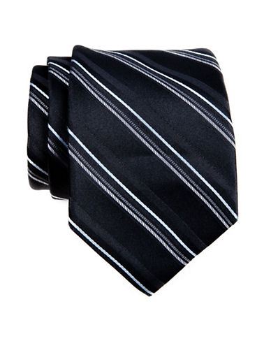 Calvin Klein Stripe Tie-BLACK-One Size