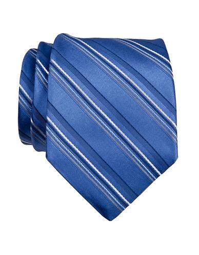 Calvin Klein Stripe Tie-BLUE-One Size