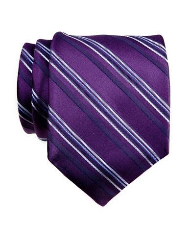 Calvin Klein Stripe Tie-PLUM-One Size