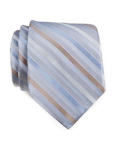 Calvin Klein Stripe Tie-SILVER-One Size