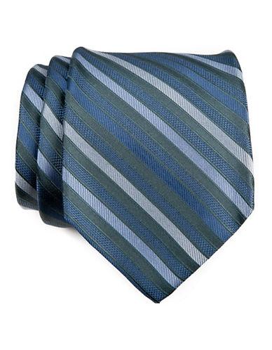 Calvin Klein Stripe Tie-SAGE-One Size