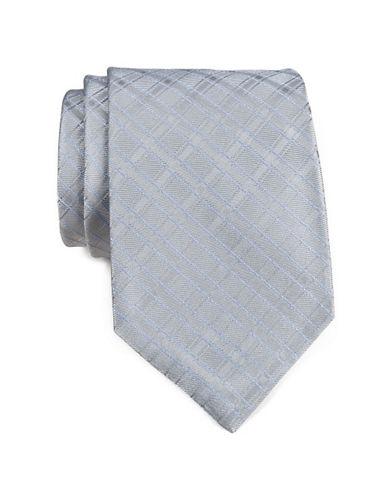 Calvin Klein Mini Grid Tie-SILVER-One Size