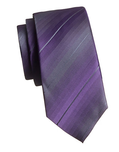 Kenneth Cole Reaction Tonal Stripe Tie-PURPLE-One Size