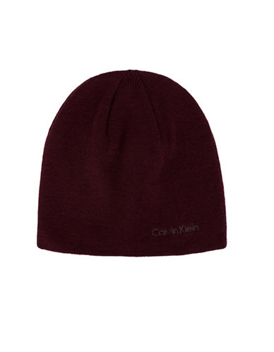 Calvin Klein Basic Reversible Beanie-RED-One Size