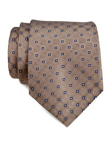 Tommy Hilfiger Neat Tie-TAUPE-One Size