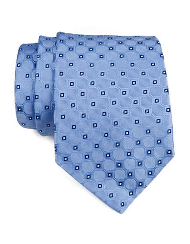 Tommy Hilfiger Neat Tie-BLUE-One Size