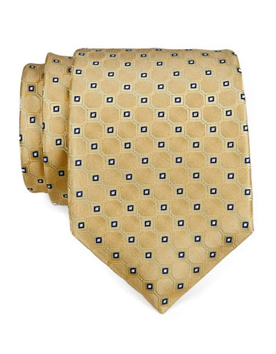 Tommy Hilfiger Neat Tie-YELLOW-One Size