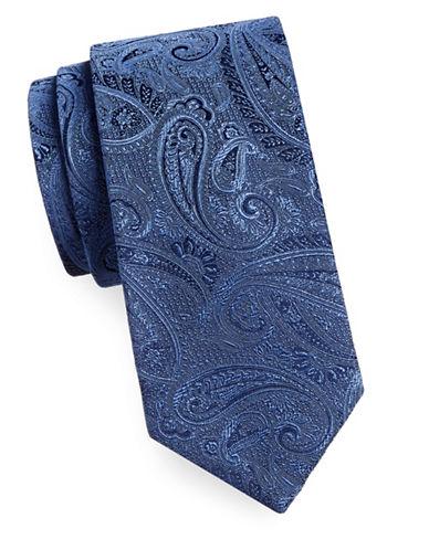 Geoffrey Beene Silk-Blend Paisley Tie-NAVY-One Size