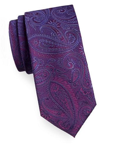 Geoffrey Beene Silk-Blend Paisley Tie-RED-One Size
