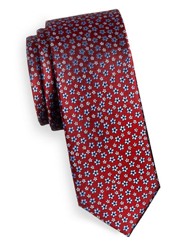 Tommy Hilfiger Floral Silk Tie-RED-One Size