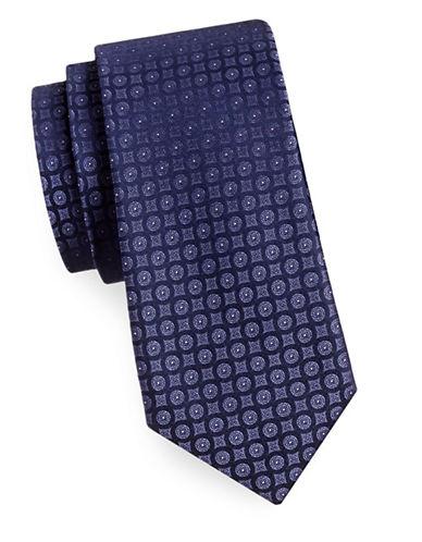 Calvin Klein Silk Medallion Tie-PURPLE-One Size