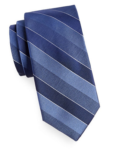 Arrow Striped Silk Tie-BLUE-One Size