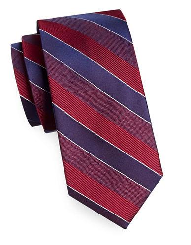 Arrow Striped Silk Tie-RED-One Size